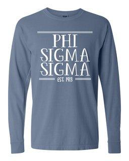 Phi Sigma Sigma Comfort Colors Custom Long Sleeve T-Shirt