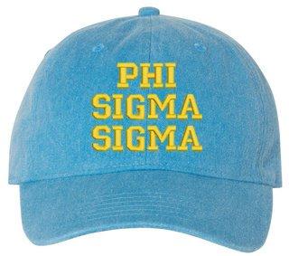 Phi Sigma Sigma Comfort Colors Pigment Dyed Baseball Cap