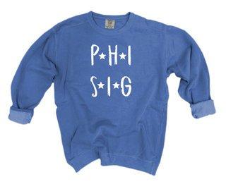 Phi Sigma Sigma Comfort Colors Starry Night Crew