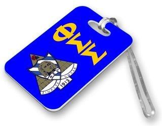 Phi Sigma Sigma Crest Luggage Tag