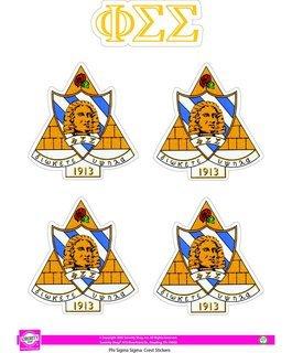 Phi Sigma Sigma Crest Sticker Sheet