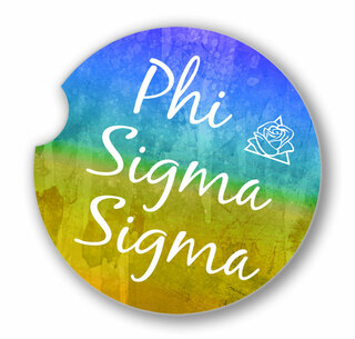 Phi Sigma Sigma Sandstone Car Cup Holder Coaster