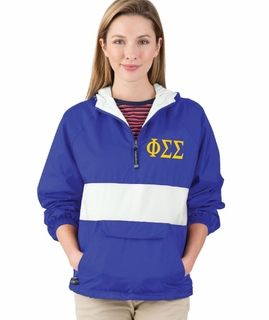 Phi Sigma Sigma Large Greek Letter Pullover Anorak