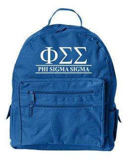 Phi Sigma Sigma Custom Text Backpack