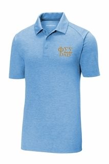 Phi Sigma Sigma Dad Posicharge Tri Blend Wicking Polo