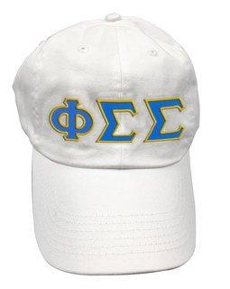 Phi Sigma Sigma Double Greek Letter Cap