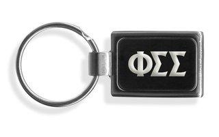Phi Sigma Sigma Engraved Chrome Keychains