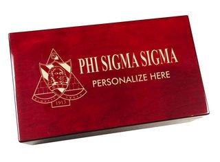 Phi Sigma Sigma Engraved Gavel Set