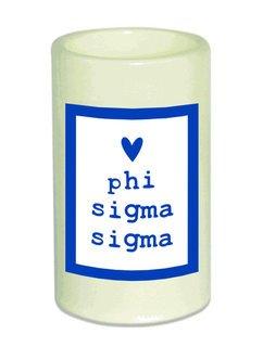 Phi Sigma Sigma Flameless Candle
