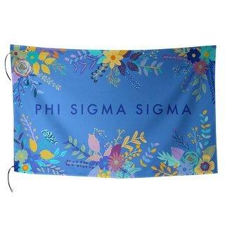 Phi Sigma Sigma Floral Flag