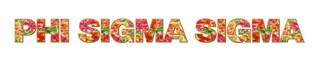 "Phi Sigma Sigma Floral Long Window Sticker - 15"" long"