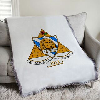Phi Sigma Sigma Full Color Crest Afghan Blanket Throw
