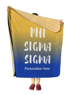 Phi Sigma Sigma Gradient Sherpa Lap Blanket