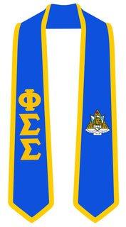 DISCOUNT-Phi Sigma Sigma Greek 2 Tone Lettered Graduation Sash Stole