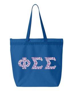 Phi Sigma Sigma Greek Letter Liberty Bag