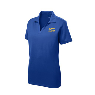 Phi Sigma Sigma Greek Letter Polo Shirts