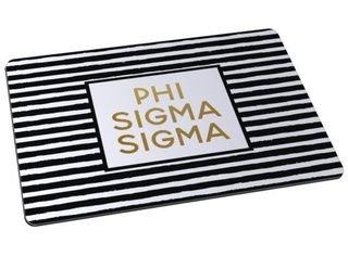 Phi Sigma Sigma Striped Mousepads