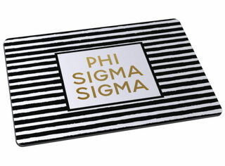 Phi Sigma Sigma Striped Mousepads