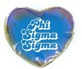 Phi Sigma Sigma Heart Shaped Makeup Bag