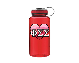 Phi Sigma Sigma Heart Wide Mouth Water Bottle