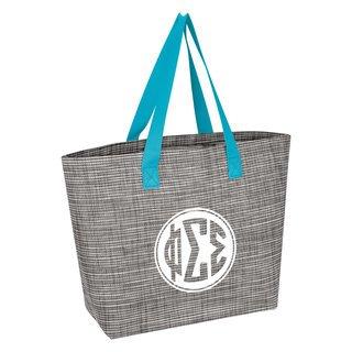 Phi Sigma Sigma Heathered Mesh Tote Bag