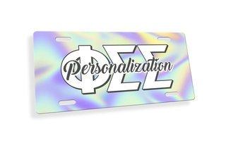 Phi Sigma Sigma Holla License Plate