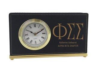 Phi Sigma Sigma Horizontal Desk Clock