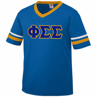 DISCOUNT-Phi Sigma Sigma Jersey With Greek Applique Letters