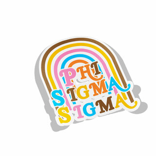 Phi Sigma Sigma Joy Decal Sticker