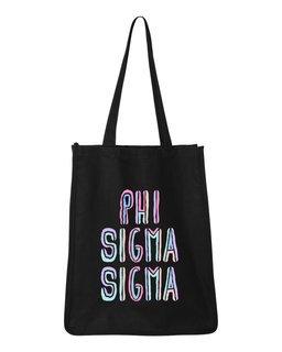 Phi Sigma Sigma Jumbo All In Tote Bag