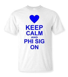 Phi Sigma Sigma Keep Calm T-Shirts