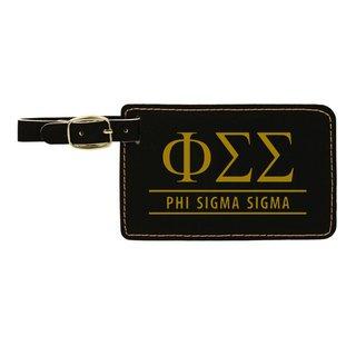 Phi Sigma Sigma Leatherette Luggage Tag