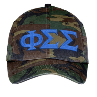 Phi Sigma Sigma Lettered Camouflage Hat