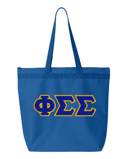 DISCOUNT-Phi Sigma Sigma Lettered Game Day Tote