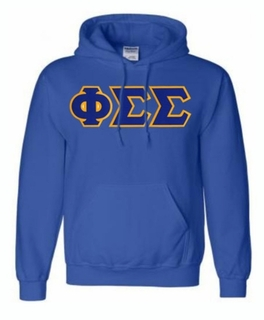 Phi Sigma Sigma Lettered Greek Hoodie- MADE FAST!