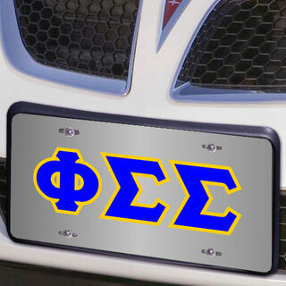 Phi Sigma Sigma Lettered License Cover