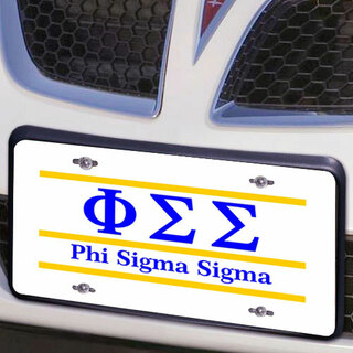 Phi Sigma Sigma Lettered Lines License Cover