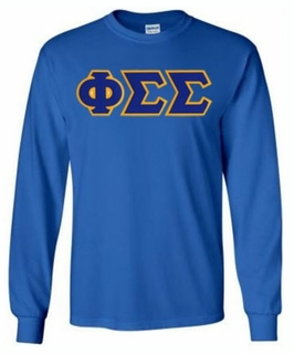 Phi Sigma Sigma Lettered Long Sleeve Tee- MADE FAST!