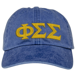 Phi Sigma Sigma Lettered Premium Pastel Hat