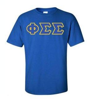 Phi Sigma Sigma Sewn Lettered Shirts