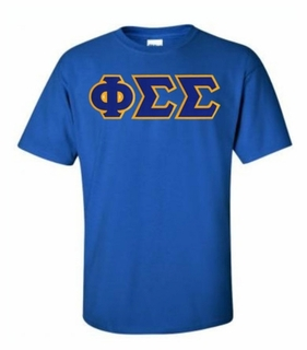 Phi Sigma Sigma Lettered T-shirt - MADE FAST!