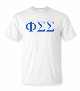 Phi Sigma Sigma Lettered Tee - $9.95! - MADE FAST!