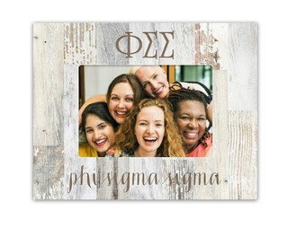 Phi Sigma Sigma Letters Barnwood Picture Frame