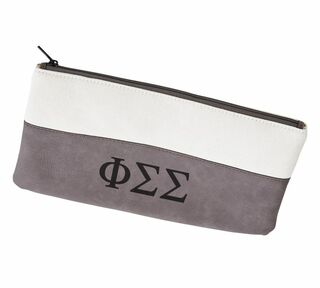 Phi Sigma Sigma Letters Cosmetic Bag