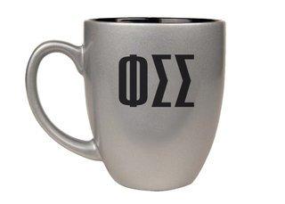 Phi Sigma Sigma Letters Engraved Bistro Mug