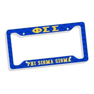 Phi Sigma Sigma Custom License Plate Frame