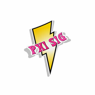 Phi Sigma Sigma Lightning Bolt Decal