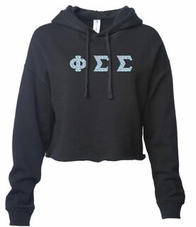 Phi Sigma Sigma Lightweight Hooded Pullover Crop Sweatshirt