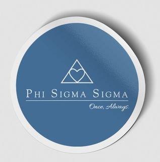 Phi Sigma Sigma Logo Round Decal