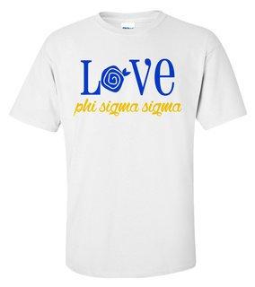 Phi Sigma Sigma Love Mascot T-Shirt
